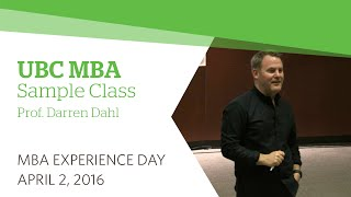 Download UBC MBA Experience Day 2016: Sample Marketing Class Video