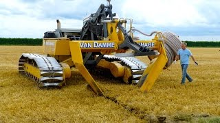 Download Inter-Drain GP-Series V plow | laying trenchless field drainage | Van Damme Drainage Video