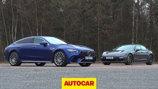 Download Mercedes-AMG GT63 S vs Porsche Panamera Turbo S | Which Luxury GT is best? | Autocar Video