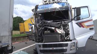Download Lkw-Unfall auf A7 bei Kassel Video