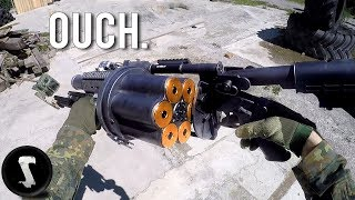 Download Possibly the Most Painful Airsoft Gun in Existence (40mm Grenade Launcher) Video