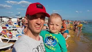 Download Анапа. Погода. 19.06.2018 ЖАРА на море Парус пляж. Селена проход. Video