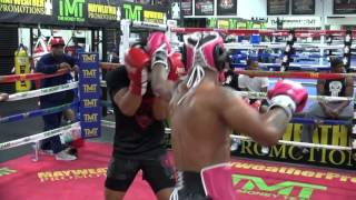 Download Kevin Lee sparring inside the Mayweather Boxing Club Video