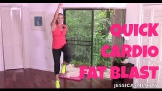 Download 150-Calorie Cardio Fat Blast - Full Length 11-Minute High Intensity Interval Training Workout Video