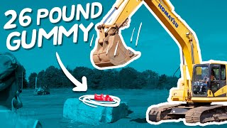 Download Giant Stress Ball vs. Construction Equipment | Will It Stretch? Video