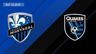 Download HIGHLIGHTS: Montreal Impact vs. San Jose Earthquakes | July 14, 2018 Video