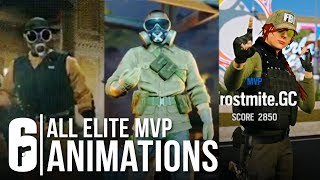 Download Rainbow Six Siege - ALL ELITE SKINS MVP ANIMATION + ASH, THATCHER, FUZE (All Leaked Victory Pose) Video