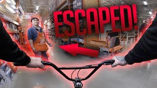 Download *ESCAPED* RIDING A BMX INSIDE HOME DEPOT! Video