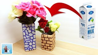 Download How to Make Flower Vase from Milk Container Easy Art and Craft Ideas Video