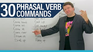 Download 30 English Phrasal Verb Commands Video