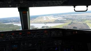 Download Landing at RDU - view from cockpit Video