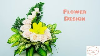 Download How to make Rose mix Lily Flower Arragement at home ?Eps 134 Video