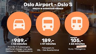 Download How to get from Oslo Airport to Oslo City — Vy? Flytoget? Flybussen? Taxi? Video