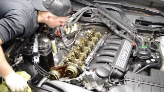 Download 08 BMW 328i E90 Valve cover Gaskets Replacement Oil Leaking 6 Cylinder Engine Video