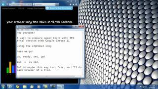 Download IE9 vs Google Chrome 11 - Alphabet Speed Test Video