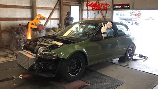 Download Mean Green street CIVIC , Boyd and Sons 875hp hatch Video
