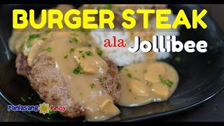 Download Jollibee Inspired Burger Steak Recipe with Mushroom Gravy (Filipino Salisbury Steak) Video