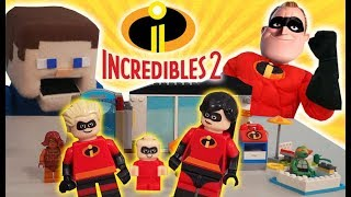 Download LEGO Incredibles 2 Movie Set Stop Motion Adventure Toys Mr Incredible Unboxing Trailer Puppet Steve Video