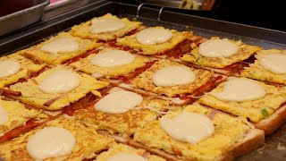 Download korean cheese egg toast / korean street food / 광복동 문토스트 Video
