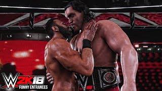 Download WWE 2K18 - Top 10 Funny Entrances Ft John Cena, Jinder Mahal, Great Khali, Triple H & More! Video