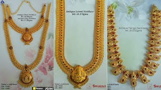 Download Latest Designer Gold Necklace With Weight Video