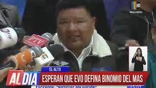 Download Esperan que Evo Morales defina el binomio del MAS Video