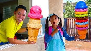 Download Wendy Pretend Play w/ Ice Cream Delivery Drive Thru Toy Store Video