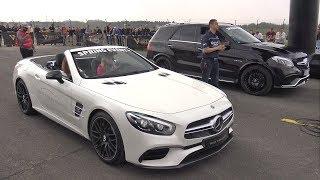 Download 585HP Mercedes-AMG SL63 vs Mercedes-AMG S63 Coupe vs Liberty Walk GTR Video