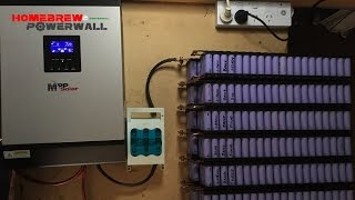 Download 18650 cells being charged via solar using PIP2424MSX on my DIYPowerwall Video