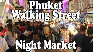 Download Phuket Walking Street Night Market. Street Food & Shopping Every Sunday in Phuket Town, Thailand Video