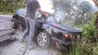 Download HAGGARD GARAGE BURNOUT CHALLENGE BTS (COPS) Video