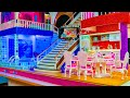 Download How to Make a Barbie Mega Miniature Doll House! Kitchen and swimming pool with light, Bedroom for ch Video