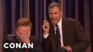 Download Will Ferrell And His Razor Come To Shave Conan's Beard - CONAN on TBS Video