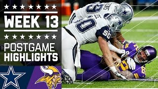 Download Cowboys vs. Vikings | NFL Week 13 Game Highlights Video