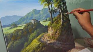 Download Acrylic Landscape Painting Lesson - Mountain Road by JMLisondra Video
