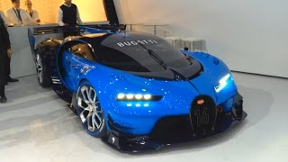 Download Bugatti Vision GT - real car start up, revving, moving Video