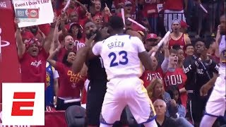 Download Draymond Green catches James Harden on the throat, gets technical foul just 1:07 into Game 1 | ESPN Video