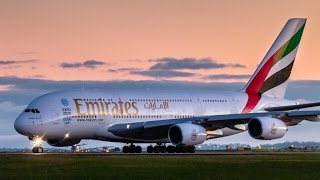 Download 8x AWESOME A380 Takeoffs & Landings - Emirates Airbus A380 at Melbourne Airport Video
