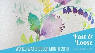 Download How to Paint a Floral Motif Fast & Loose Without Rushing Video