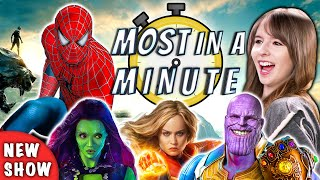 Download Who Can Name The Most Marvel Movies In A Minute?   Most In A Minute (REACT) Video