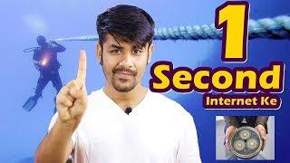 Download 1 Second Me Internet Par Kya Hota Hai ? | Secret Information You Can't Imagine About The Internet Video