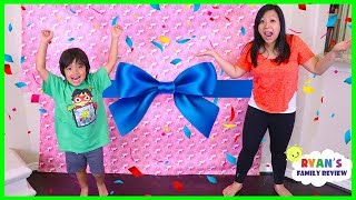 Download Ryan Surprise Mommy with Giant Presents Surprise for Mother's Day!!! Video