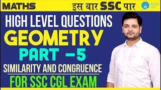 Download SSC CGL | SSC GD | Geometry part 5| Similarity and Congruence | Maths | Saket Sir | 10 P.M. Video