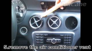 Download Stereo installation instruction for Mercedes Benz A class W176 B class W246 with DVD player GPS Nav Video