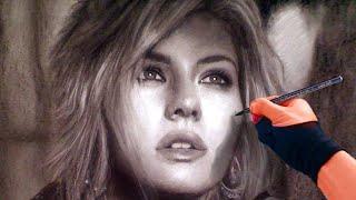 Download Watch A Professional Artist Draw A BEAUTIFUL Portrait Of Elisha Cuthbert Video