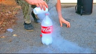 Download Don't Put Liquid Nitrogen into Plastic Bottle Video