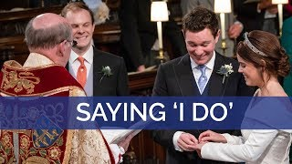 Download The Royal Wedding: The Dean of Windsor leads the vows and the giving of the rings Video