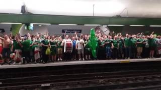 Download Northern Ireland supporters singing in the metro of PARIS // #EURO 2016 Video