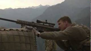 Download Army Sniper at Outpost Mace in Nuristan, Afghanistan - Barrett Rifle Video