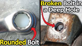 Download How to Remove a Rounded Bolt or a Broken Bolt in a deep hole Video